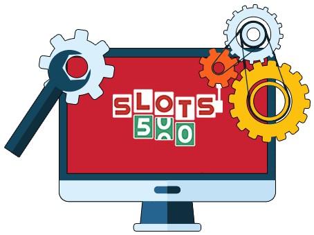 Slots500 Casino - Software