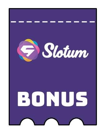 Latest bonus spins from Slotum