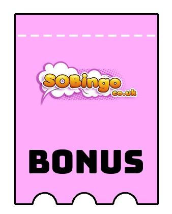 Latest bonus spins from SoBingo
