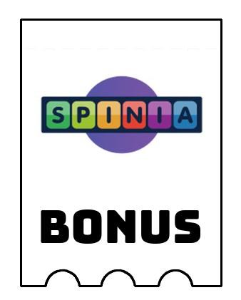 Latest bonus spins from Spinia Casino