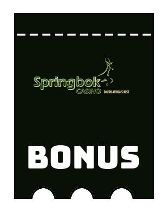 Latest bonus spins from Springbok Casino