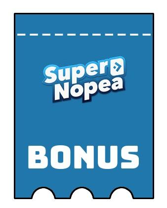 Latest bonus spins from SuperNopea
