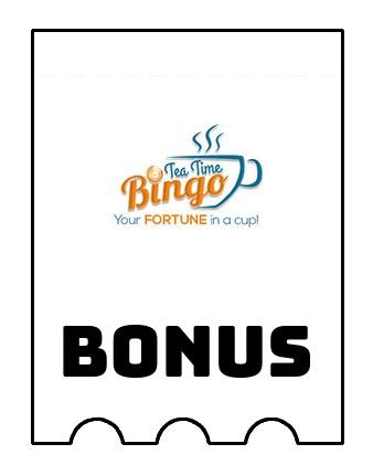Latest bonus spins from Tea Time Bingo