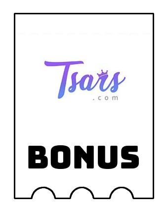 Latest bonus spins from Tsars