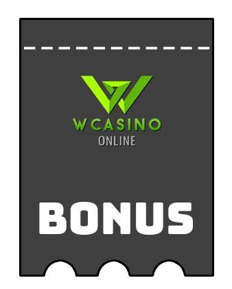 Latest bonus spins from Wcasino