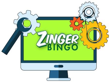 Zinger Bingo Casino - Software