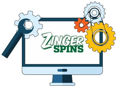 Zinger Spins Casino - Software