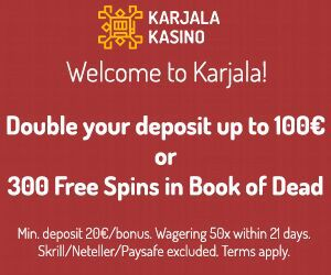 Latest no deposit bonus from Karjala Kasino