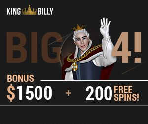 Latest no deposit bonus from King Billy Casino