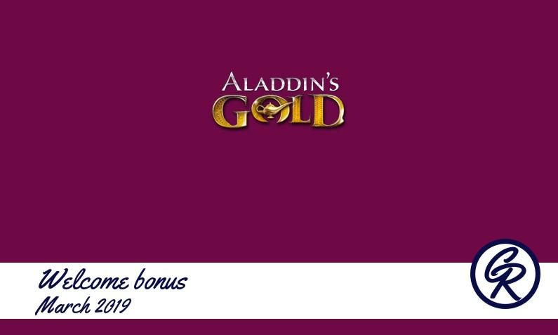 25 Free Spins at Aladdins Gold Casino