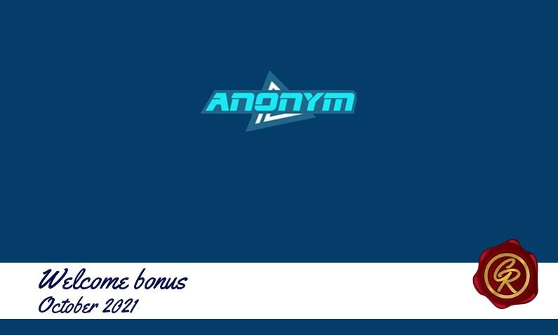 Latest Anonymbet recommended bonus October 2021
