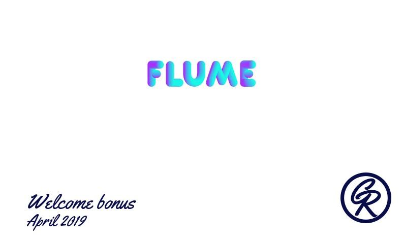 Latest Flume Casino recommended bonus April 2019, 25 Free spins