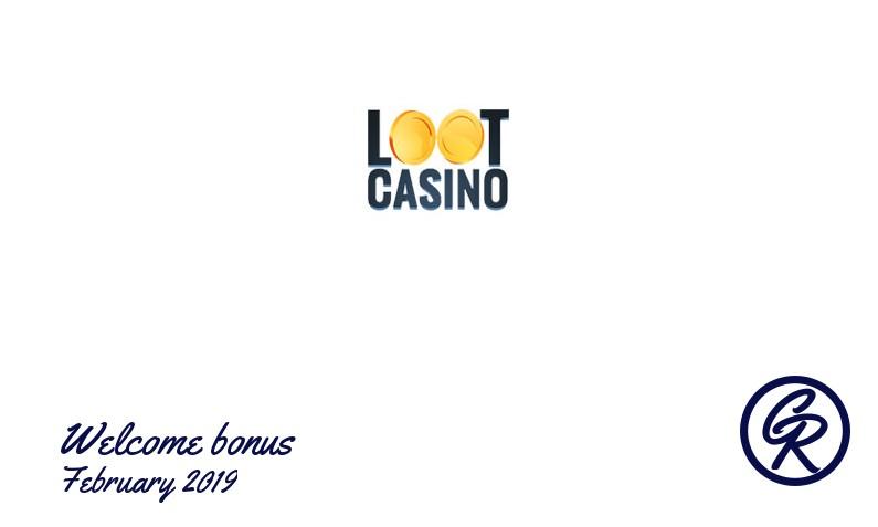 Latest Loot Casino recommended bonus February 2019, 1 Free spins bonus
