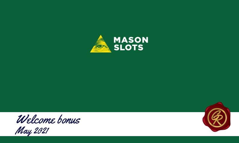 Latest Mason Slots recommended bonus, 50 Free spins