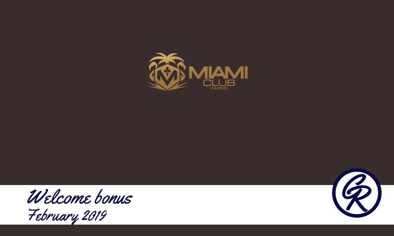Latest Miami Club Casino recommended bonus