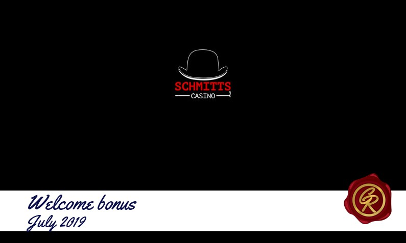 Latest Schmitts Casino recommended bonus July 2019, 25 Freespins