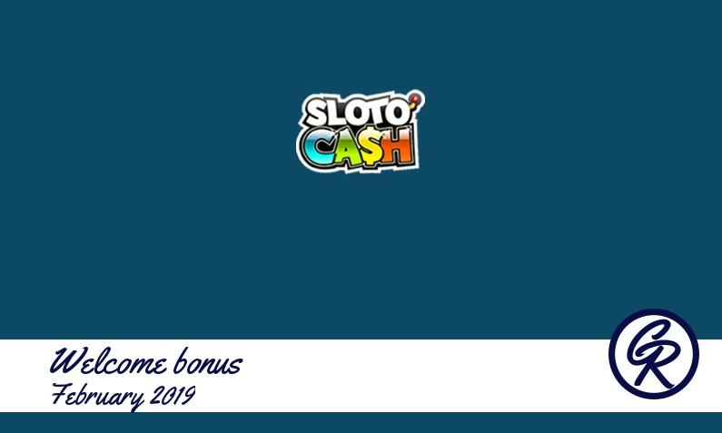Latest Sloto Cash Casino recommended bonus, 100 Free spins bonus