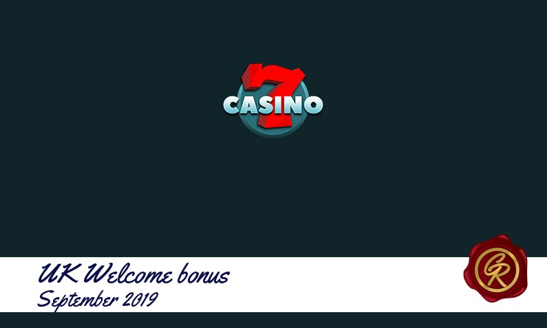 Latest UK 7Casino recommended bonus September 2019, 77 Free spins