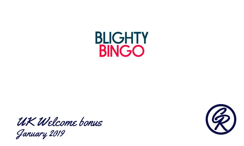 Latest UK Blighty Bingo Casino recommended bonus January 2019, 10 Free spins + 70£
