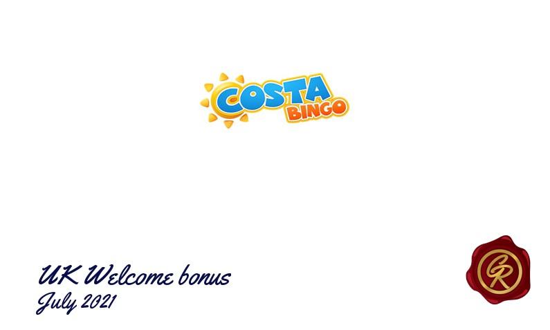 Latest UK Costa Bingo recommended bonus, 20 Bonus-spins