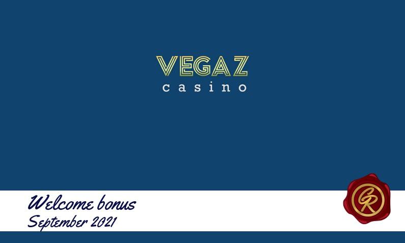 Latest Vegaz Casino recommended bonus, 50 Free spins bonus
