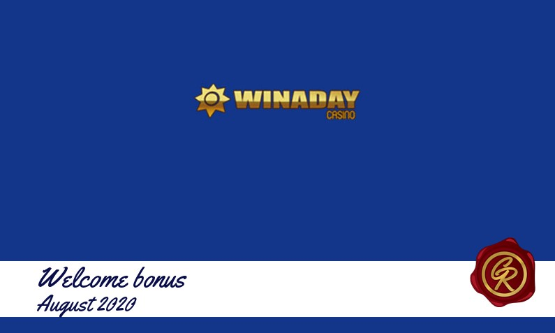Latest Winaday Casino recommended bonus August 2020