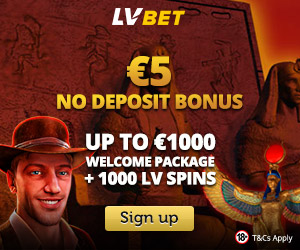 Latest no deposit bonus from LVbet Casino