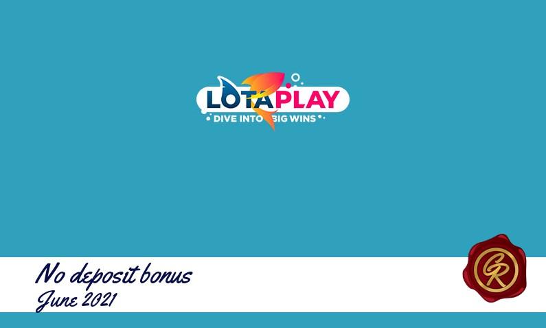 New no deposit bonus from LotaPlay June 2021, 50 Extraspins