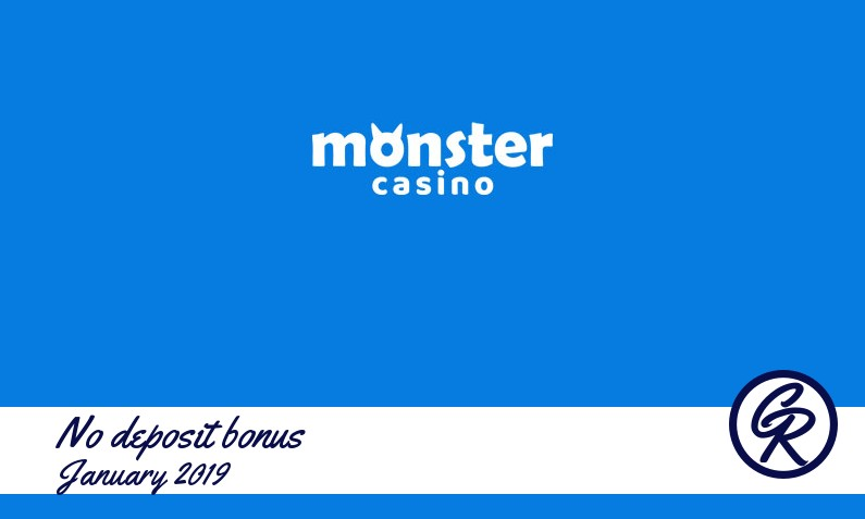 Monster Casino no deposit, 5£/$/€ + first deposit bonus – 50 free spins and 200% up to 50£/$/€