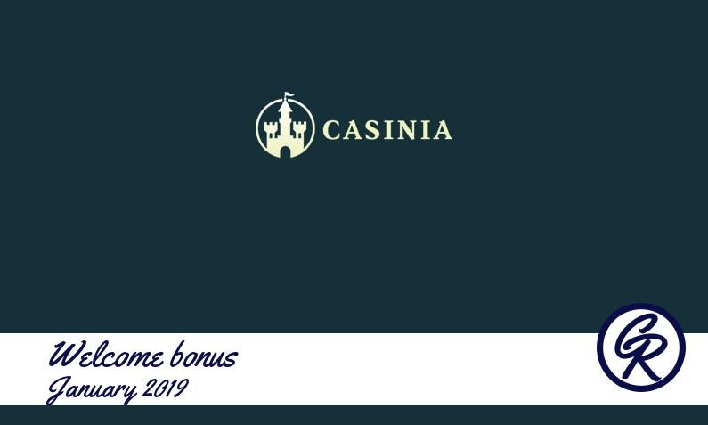 New recommended bonus from Casinia Casino January 2019, 200 Free spins bonus