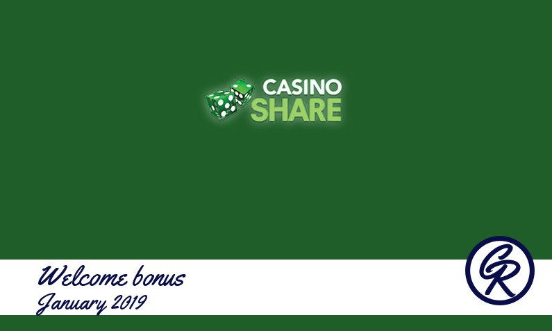 New recommended bonus from Casino Share January 2019