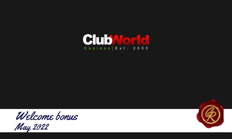 New recommended bonus from Club World Casino