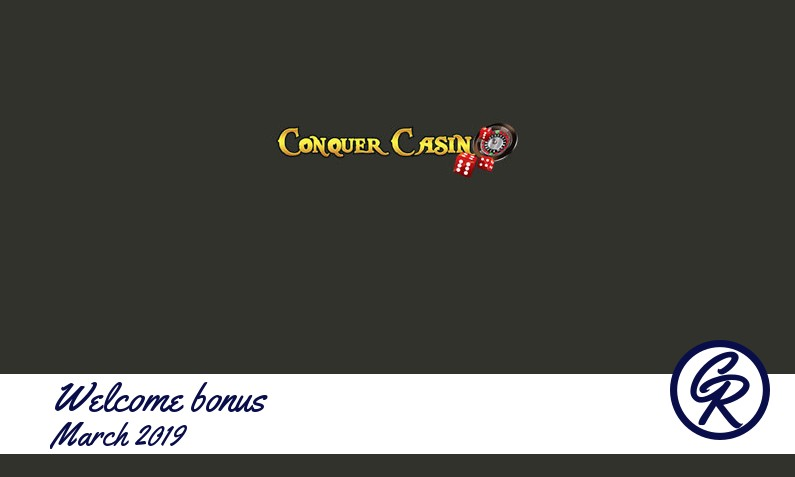 New recommended bonus from Conquer Casino March 2019, 15 Extra spins