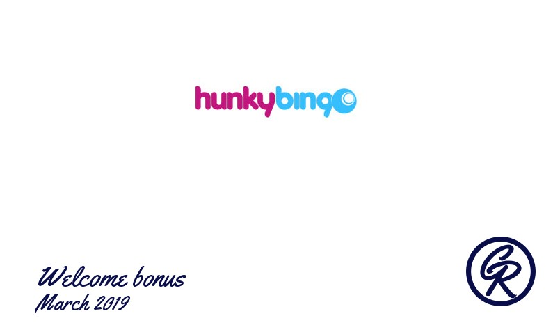New recommended bonus from Hunky Bingo Casino March 2019, 10 Bonus spins