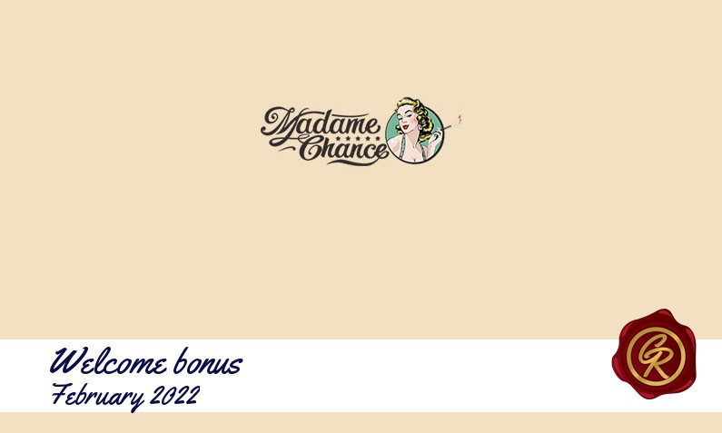 New recommended bonus from Madame Chance Casino