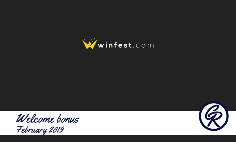 New recommended bonus from Winfest Casino February 2019