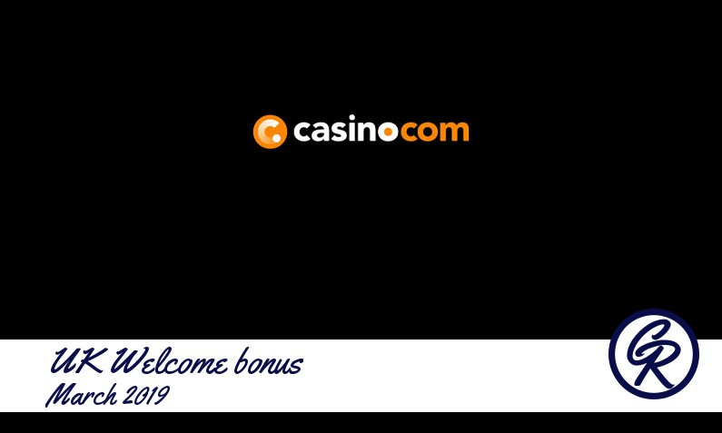New recommended UK bonus from Casino com March 2019, 200 Spins