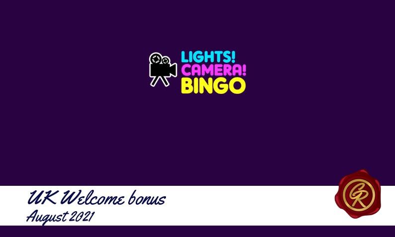 New recommended UK bonus from Lights Camera Bingo, 500 Extra spins