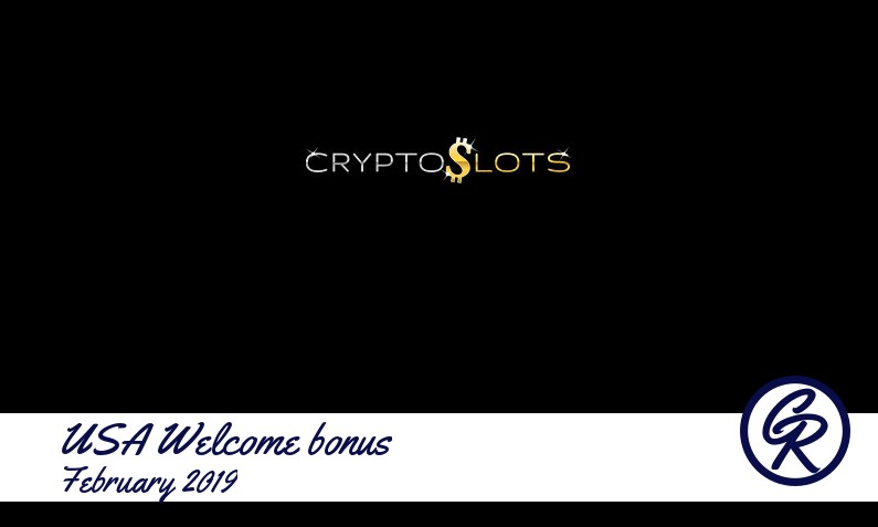 New recommended USA bonus from CryptoSlots Casino