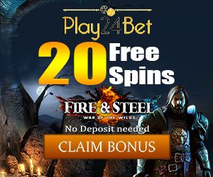 Latest no deposit bonus from Play24Bet