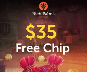 Latest no deposit bonus from Rich Palms